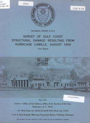 Primary view of object titled 'Survey of Gulf Coast Structural Damage Resulting from Hurricane Camille, August, 1969'.