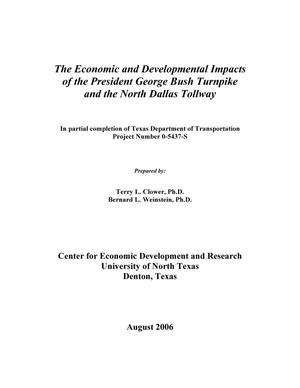 Primary view of object titled 'The Economic and Developmental Impacts of the President George Bush Turnpike and the North Dallas Tollway'.