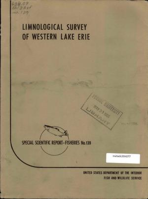 Primary view of object titled 'Limnological Survey of Western Lake Erie'.