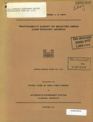 Primary view of object titled 'Trafficability Survey of Selected Areas, Camp Stewart, Georgia'.