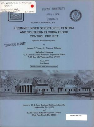 Primary view of object titled 'Kissimmee River Structures, Central and Southern Florida Flood Control Project: Hydraulic Model Investigation'.