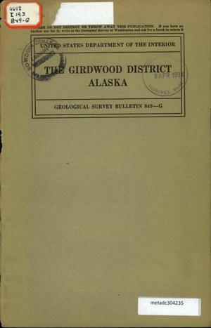 Primary view of object titled 'The Girdwood District, Alaska'.