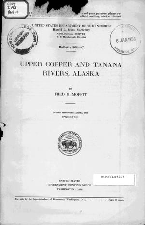 Primary view of object titled 'Upper Copper and Tanana Rivers, Alaska'.