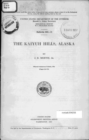 Primary view of object titled 'The Kaiyuh Hills, Alaska'.