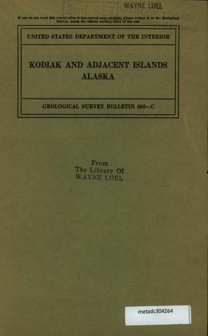 Primary view of object titled 'Kodiak and Adjacent Islands, Alaska'.
