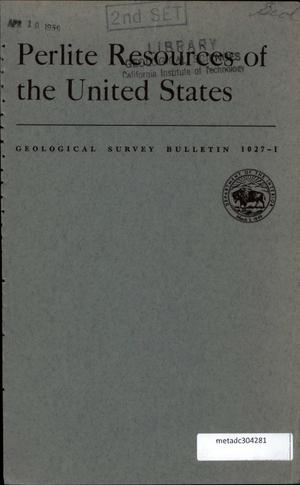 Primary view of object titled 'Perlite Resources of the United States'.