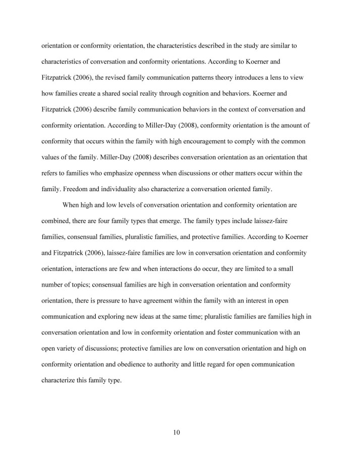 thesis on family communication Family communication patterns, friendslllp networks, and communication competence of japanese international college students a thesis submitied to the graduate dmsion.