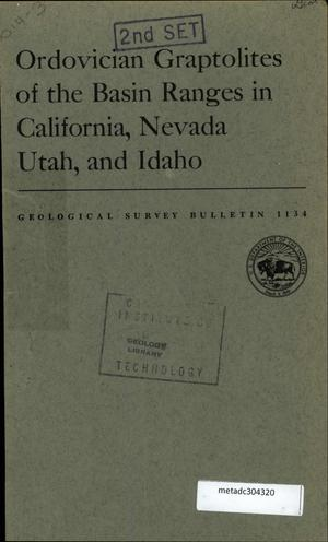 Primary view of object titled 'Ordovician Graptolites of the Basin Ranges in California, Nevada, Utah, and Idaho'.