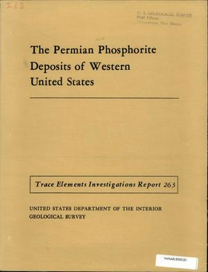 Primary view of object titled 'The Permian Phosphate Deposits of Western United States'.