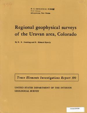 Primary view of object titled 'Regional Geophysical Investigations of the Uravan Area, Colorado'.