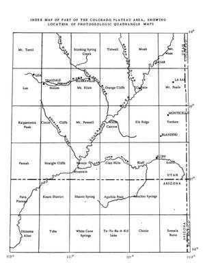 Photogeologic Map Navajo Mountain 9 Quadrangle Navajo Indian