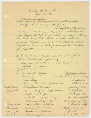 Primary view of object titled '[Minutes: Math & Science Academy Committee, June 10, 1987]'.