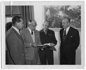 Primary view of object titled '[Gordon Knox Presents Script to Sponsors]'.