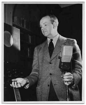 Primary view of object titled '[Gordon Knox with Microphone]'.