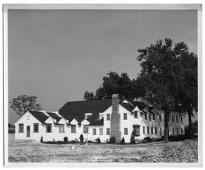 Primary view of object titled '[Newly Built Princeton Film Center, Circa 1949]'.