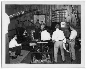 "Primary view of object titled '[Cast and Crew During the Filming of ""Shooting Straight with Tim Holt""]'."
