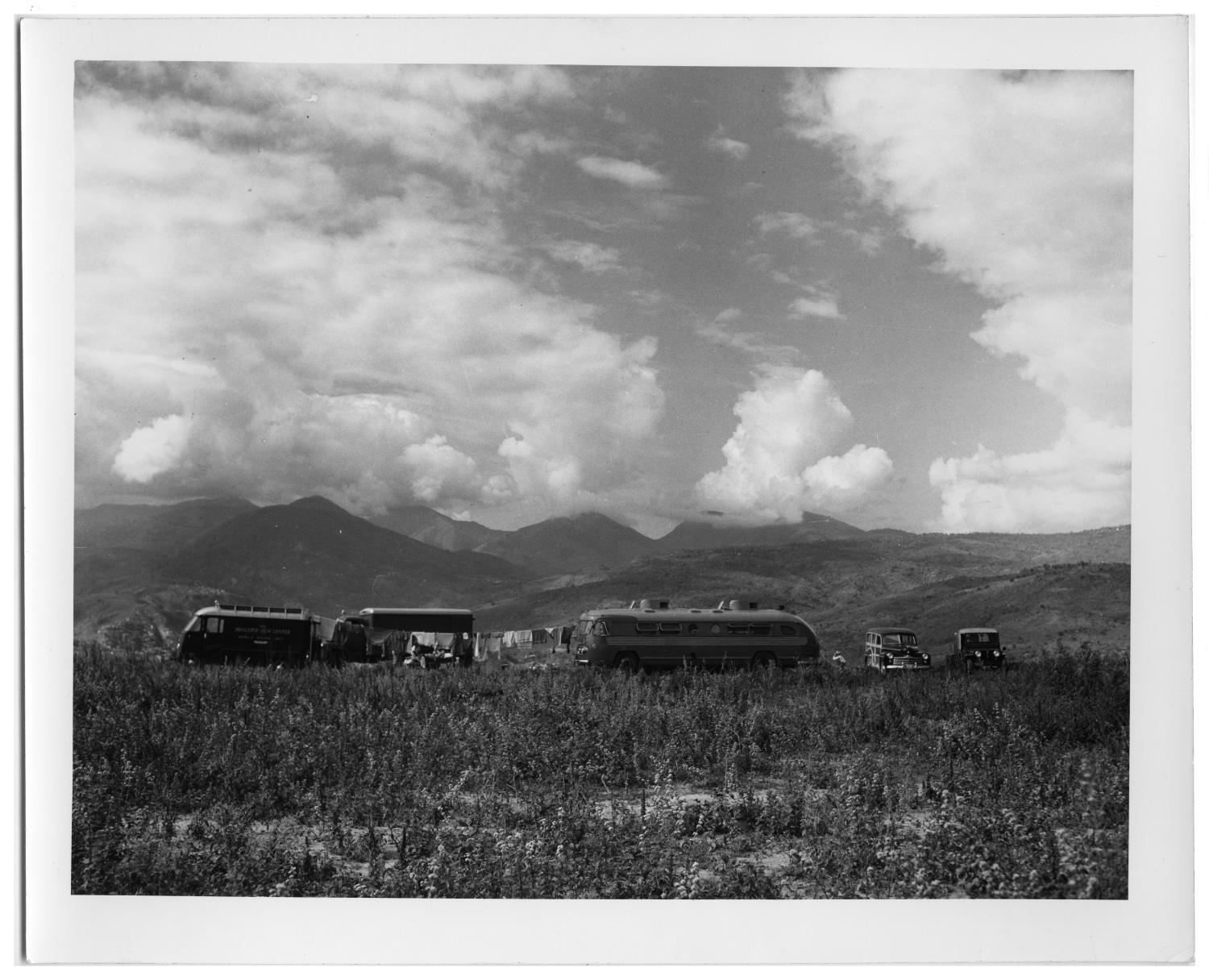 [Drying Laundry and a Field With Mountains in Venezuela]                                                                                                      [Sequence #]: 1 of 2