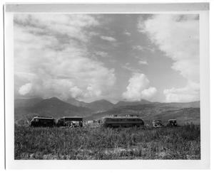 Primary view of object titled '[Drying Laundry and a Field With Mountains in Venezuela]'.