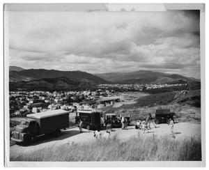 [Princeton Film Center Vehicles Overlooking a Town in Venezuela]