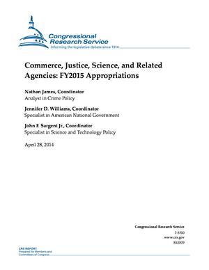Commerce, Justice, Science, and Related Agencies: FY2015 Appropriations