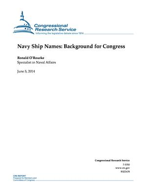 Navy Ship Names: Background for Congress