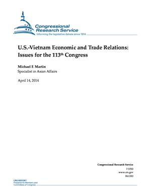 U.S.-Vietnam Economic and Trade Relations: Issues for the 113th Congress