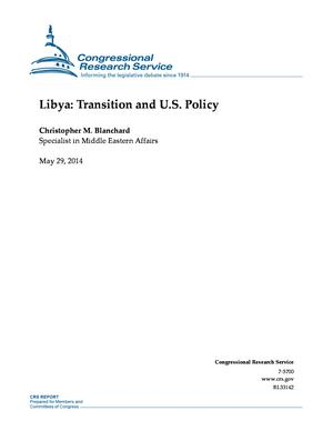Libya: Transition and U.S. Policy