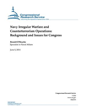 Navy Irregular Warfare and Counterterrorism Operations: Background and Issues for Congress