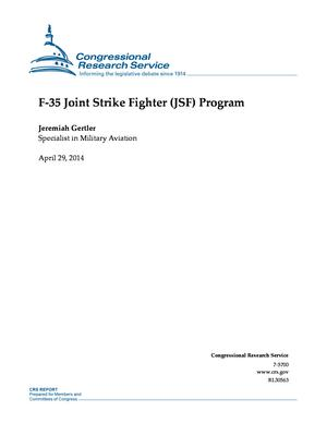F-35 Joint Strike Fighter (JSF) Program