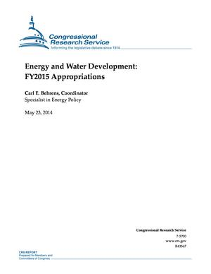 Energy and Water Development: FY2015 Appropriations