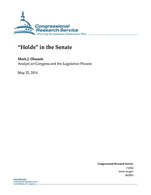 """Holds"" in the Senate"
