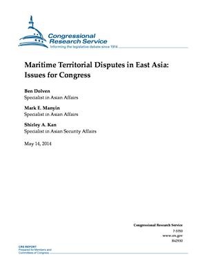 Maritime Territorial Disputes in East Asia: Issues for Congress
