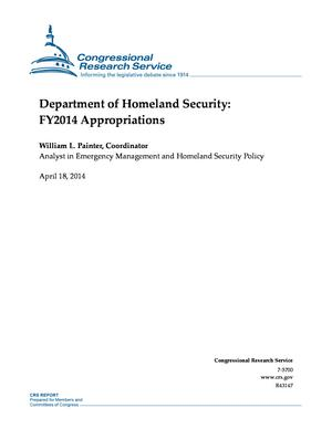 Department of Homeland Security: FY2014 Appropriations