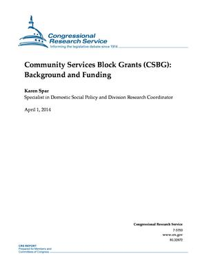 Community Services Block Grants (CSBG): Background and Funding