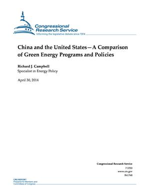 China and the United States--A Comparison of Green Energy Programs and Policies