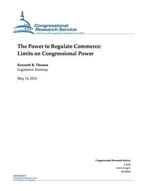 The Power to Regulate Commerce: Limits on Congressional Power