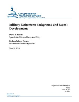 Military Retirement: Background and Recent Developments