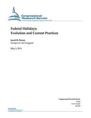 Federal Holidays: Evolution and Current Practices