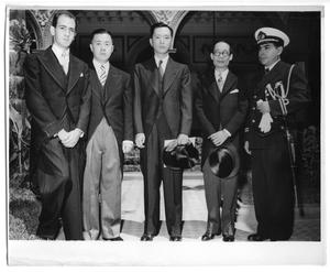 Primary view of object titled '[Five Men Pose for a Photograph]'.