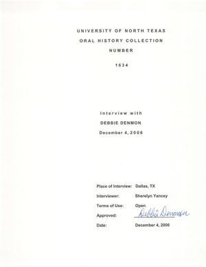 Oral History Interview with Debbie Denmon, December 4, 2006