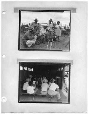 Primary view of object titled '[Venezuelan Townspeople Stand Before the Camera] and [Gathering Between Crew and Townspeople]'.