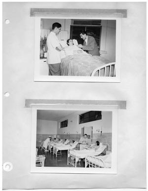 Primary view of object titled '[Scene at a Hospital with Woman and Men] and [Scene at a Hospital]'.