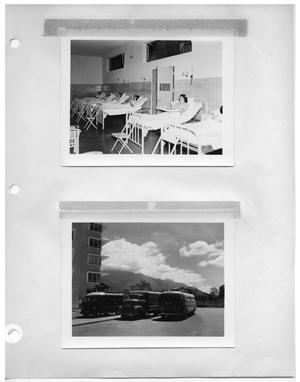 Primary view of object titled '[Scene at a Hospital] and [Custom Vehicles Parked Outside]'.
