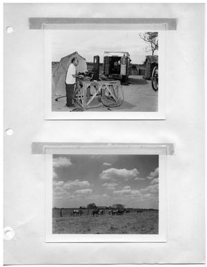 Primary view of object titled '[Sound Station] and [Field with Horses]'.