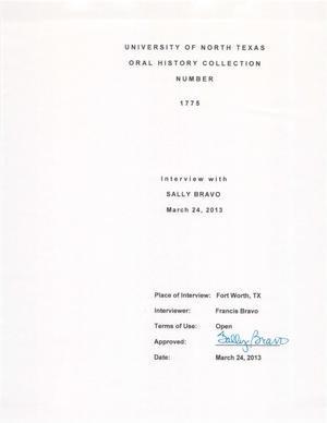 Primary view of object titled 'Oral History Interview with Sally Bermejo Bravo, March 24, 2013'.