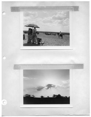 Primary view of object titled '[Filming Horses] and [Landscape with Sun Behind Cloud]'.