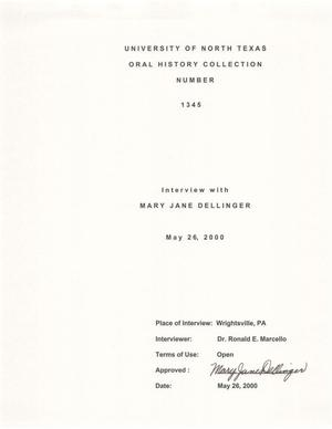 Primary view of object titled 'Oral History Interview with Mary Jane Dellinger, May 26, 2000'.