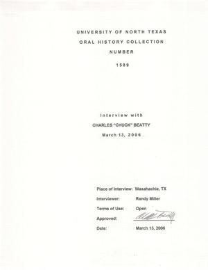 Primary view of object titled 'Oral History Interview with Charles Beatty, March 13, 2006'.