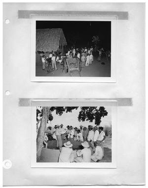 Primary view of object titled '[Social Event] and [Cock Fight Under Tree]'.