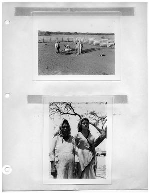 Primary view of object titled '[Men with Carcass and Resting Dog] and [Two Women]'.